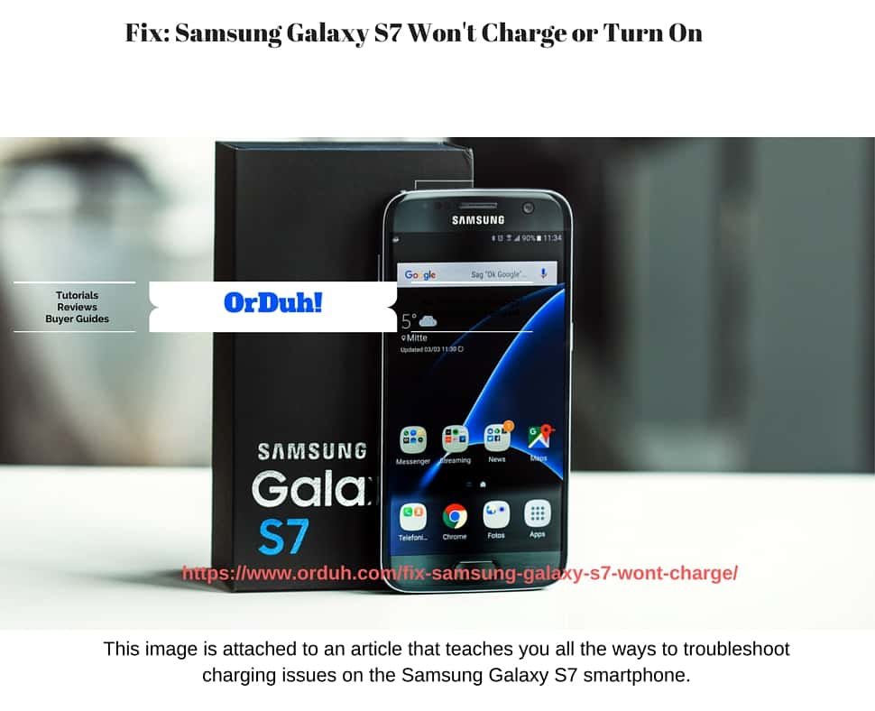 Samsung Galaxy S7 Won'T Charge, Galaxy S7 not charging, Galaxy S7 won't turn on