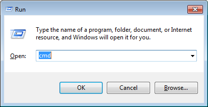 run dialog, typecmd, release renew ip address fix bad dns pribe config