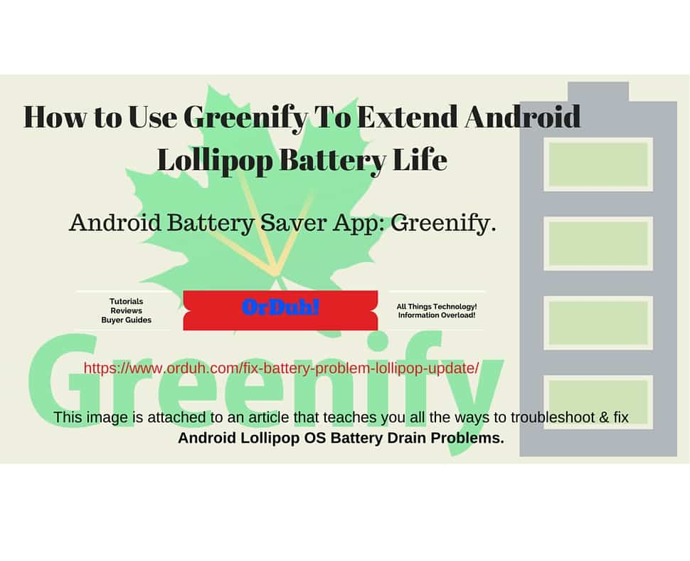 This image is attached to an article that teaches you all the ways to troubleshoot & fix Android Lollipop OS Battery Drain Problems.