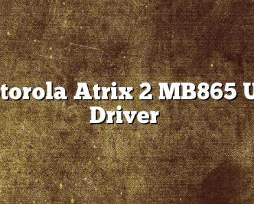 Motorola Atrix 2 MB865 USB Driver