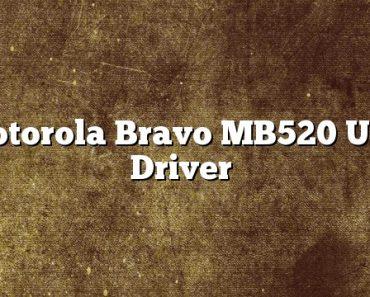 Motorola Bravo MB520 USB Driver
