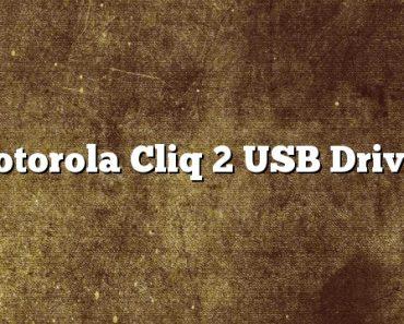 Motorola Cliq 2 USB Driver