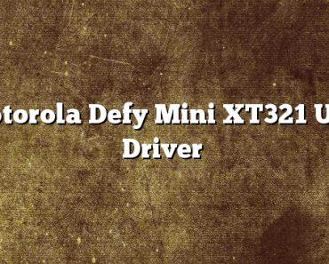 Motorola Defy Mini XT321 USB Driver