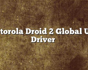 Motorola Droid 2 Global USB Driver