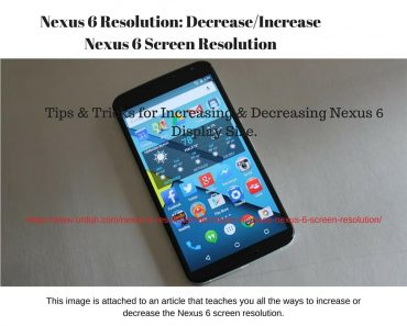 Nexus 6 Screen Resolution - 1,440 x 2,560 - Decrease%2FIncrease Nexus 6 Screen Resolution