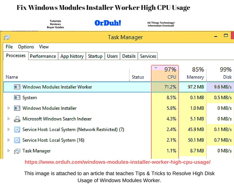 Windows Modules Installer Worker High CPU Usage - High Disk Usage Easy Fixes