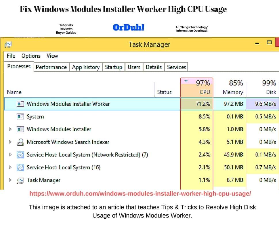 windows modules installer worker cpu server 2016