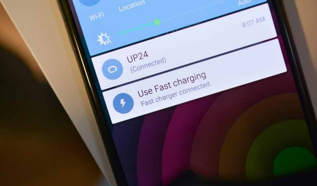 Image that displays the Nexus 6 Fast Charging Notification. - Nexus 6 Charging Slowly Fixes.