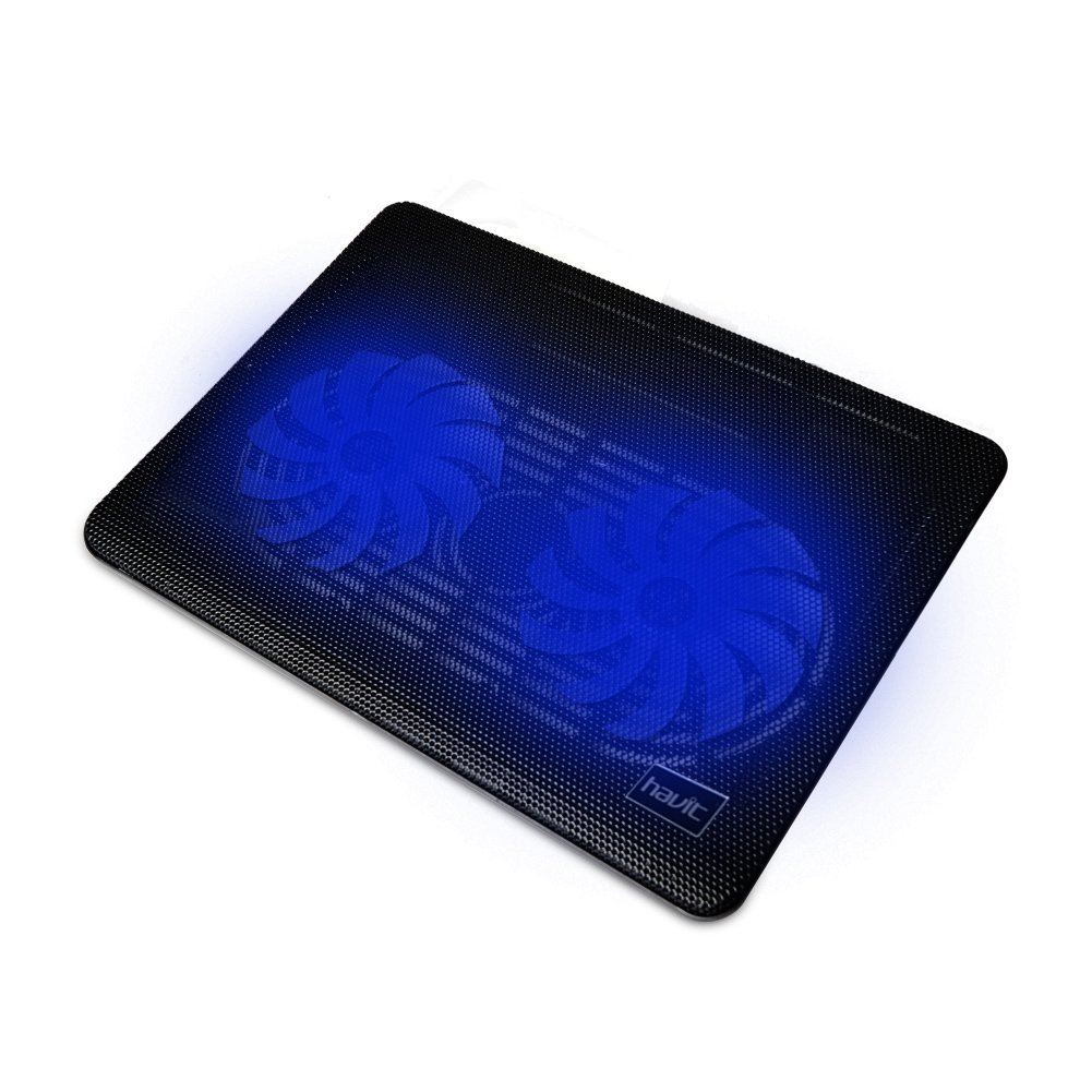 HAVIT HV-F2033 14 -15.6 inch Super-slim Laptop Cooler Cooling Pad (2 Fans) - best laptop coolers