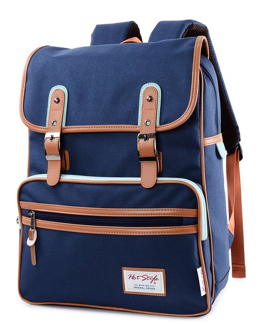 HotStyle Basic Classic SmileDay Vintage Laptop Bags for college students - best laptop backpacks for college students