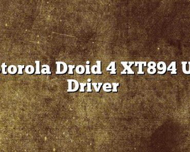 Motorola Droid 4 XT894 USB Driver