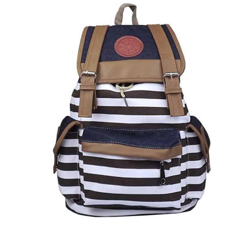Wowlife Unisex Canvas Backpack for College Students - Brown
