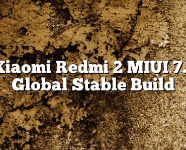Xiaomi Redmi 2 MIUI 7.1 Global Stable Build