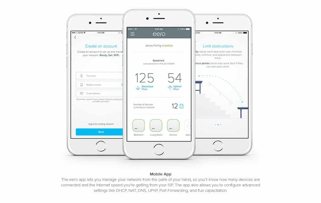 eero mobile app, eero router app
