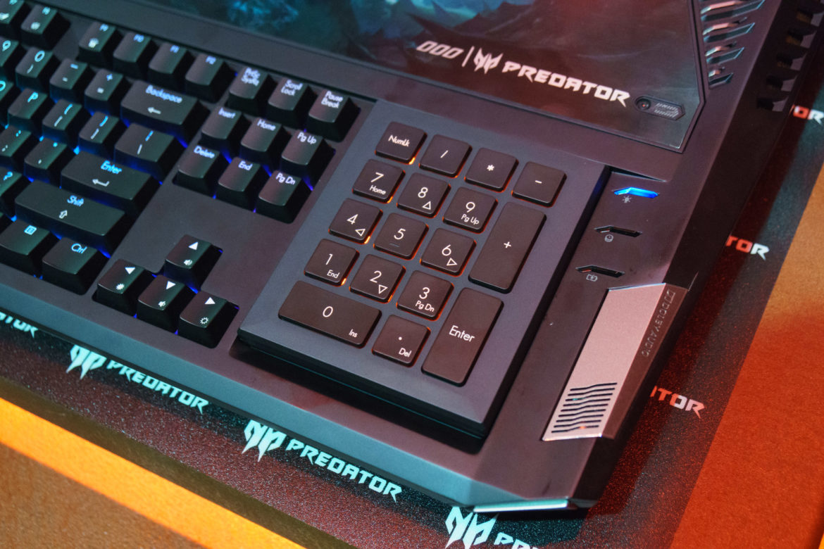 Acer Predator 21X Gaming Laptop - Number Pad,Acer Predator 21X Numerical Keyboard