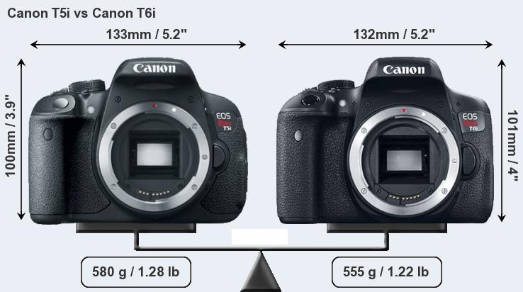 Canon T5i vs Canon T6i fron