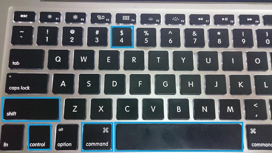 Command + Control + Shift + 3 - mac print screen, print screen on mac