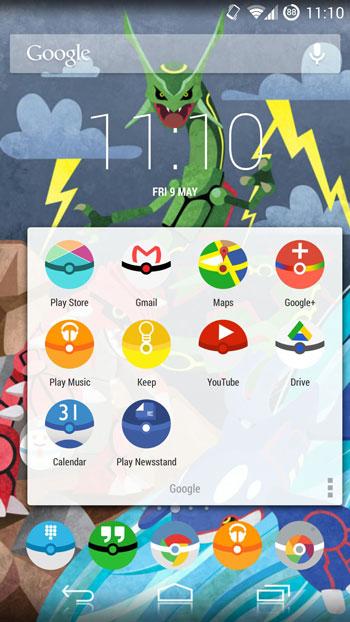 pokemon go nova launcher theme - pokemon theme for android, top nova launcher themes