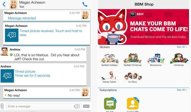 BBM-messaging apps like kik