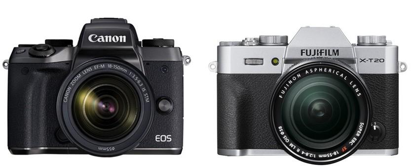 Canon M5 vs Fujifilm X-T20 – Comparison