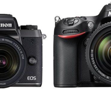 Canon M5 vs Nikon D7200