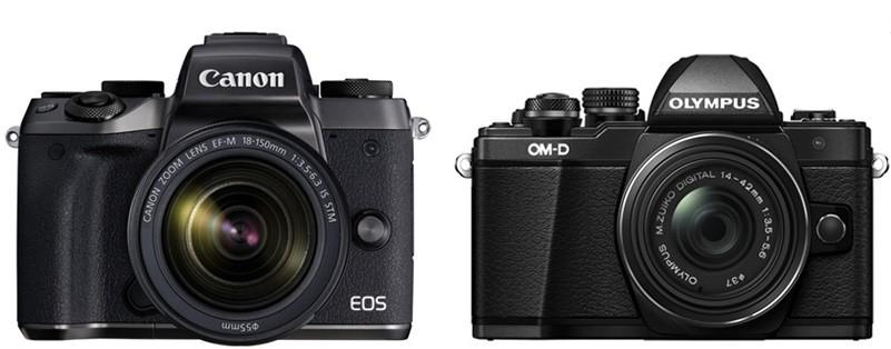 Canon M5 vs Olympus E-M10 II – Comparison