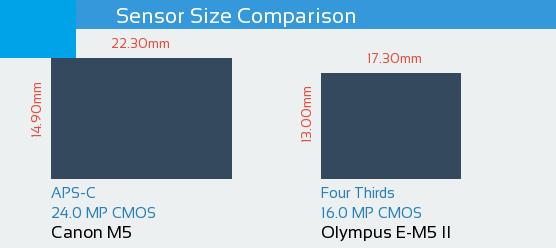 Canon M5 vs Olympus E-M5 II Sensor Comparison