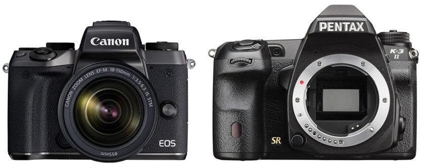 Canon M5 vs Pentax 3-K II – Comparison