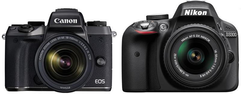 Canon M5 vs Nikon D3300