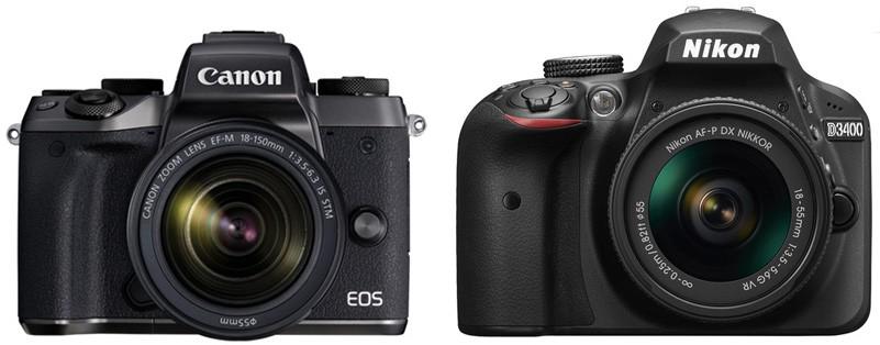 Canon M5 vs Nikon D3400