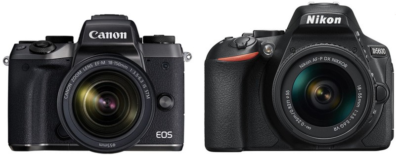 Canon M5 vs Nikon D5600: Differences, Similarities, Reviews