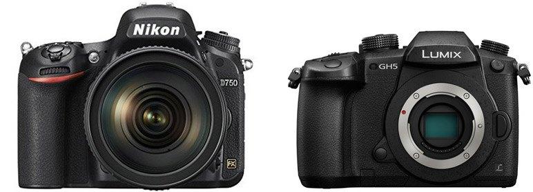 Nikon D750 vs Panasonic GH5