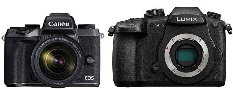 Canon M5 vs Panasonic GH5 – Comparison