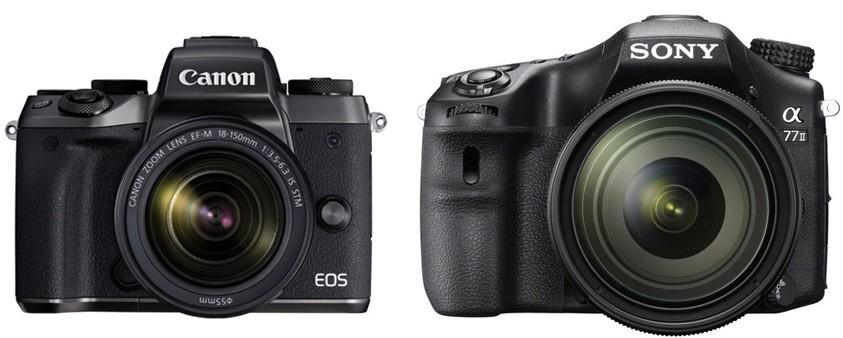 Canon M5 vs Sony A77 II – Comparison