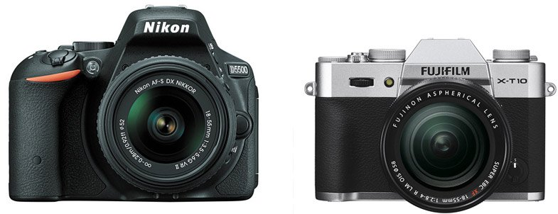 Nikon D5500 vs Fujifilm X-T10 – Comparison
