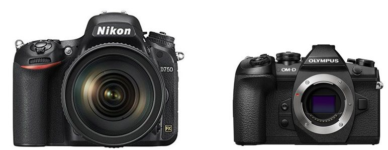 Nikon D750 vs Olympus E-M1 II – Comparison