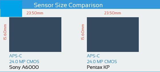 Sony A6000 vs Pentax KP Sensor Comparison