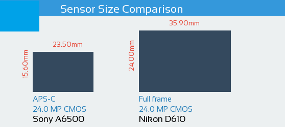 Sony A6500 vs Nikon D610 Sensor Comparison