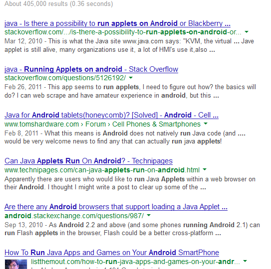 Solved: Can Android Run Java Applets?
