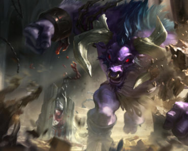 Alistar in his regular skin. This image is part of an article that teaches how to counter Alistar.