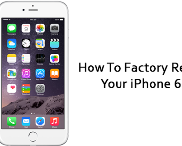 How To Reset An iPhone 6 - Soft Reset & Factory Reset