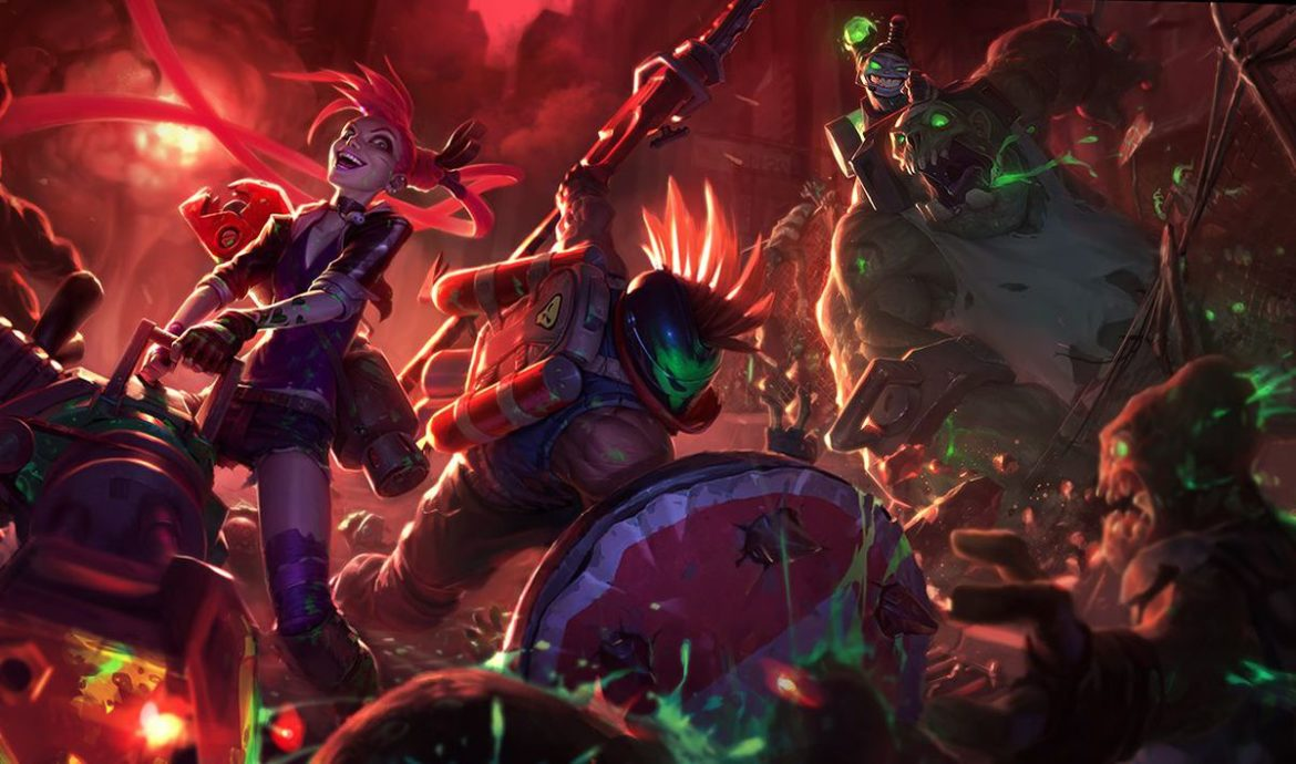 An image of Jinx in her Slayer skin. This image is part of an articles (How To Counter Jinx) that discusses tips and tricks for countering Jinx.