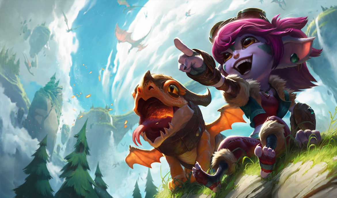 Tristana in her Dragon Trainer Skin. This is an image placed within a tutorial that teachers League of Legends players how to counter Tristana with anyone.