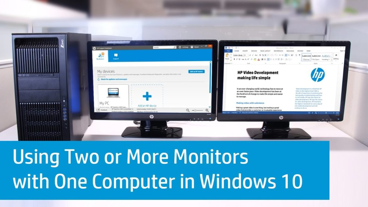 Two Monitors  One Computer  Different Display