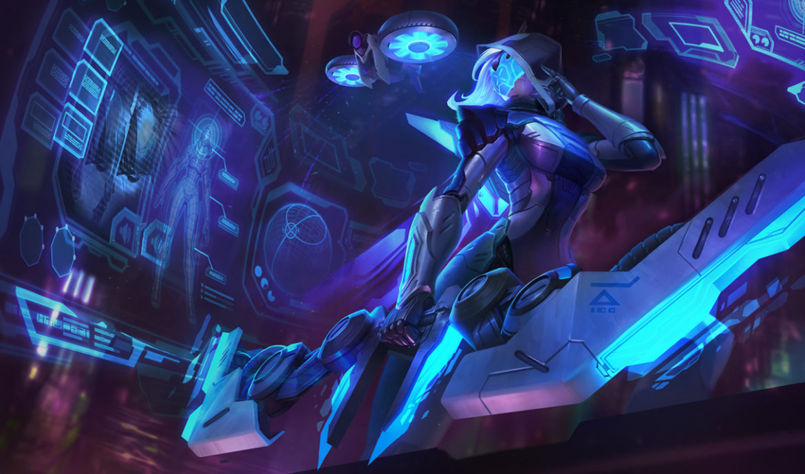An image of Ashe in Project skin. This image is attached to an article that teaches how to counter Ashe.