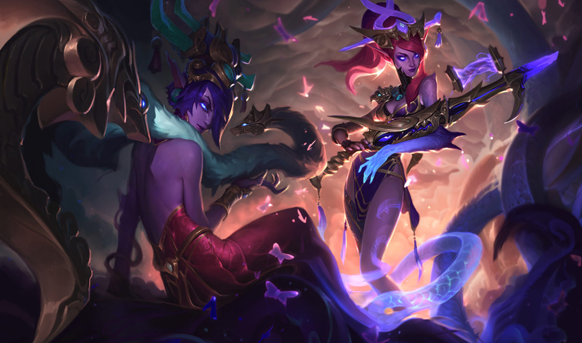 Caitlyn in her Lunar Wraith skin. This image is part of an article that defines how to counter caitlyn and tell which champions are good caitlyn counters.
