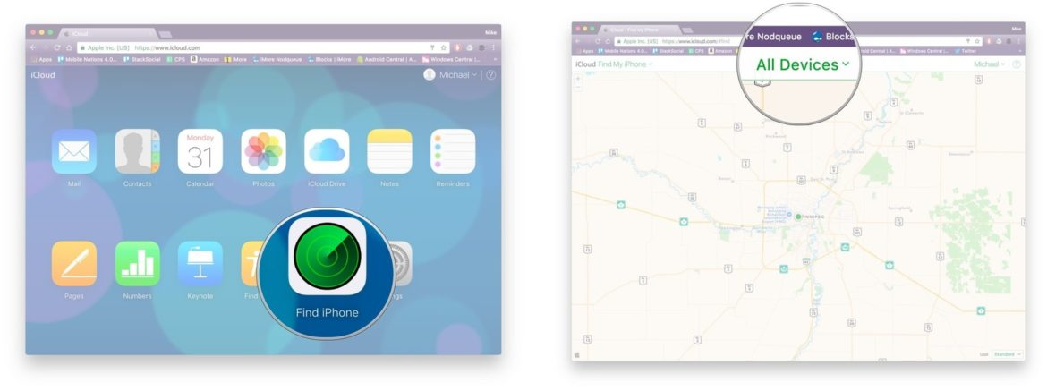 How To Use Find My iPhone On The Web With iCloud