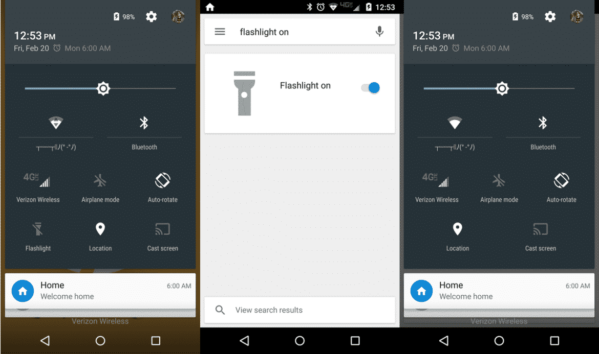 turn on flashlight on android