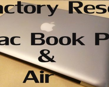 How To Factory Reset A MacBook Air