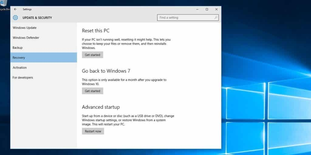 how to downgrade to windows 7